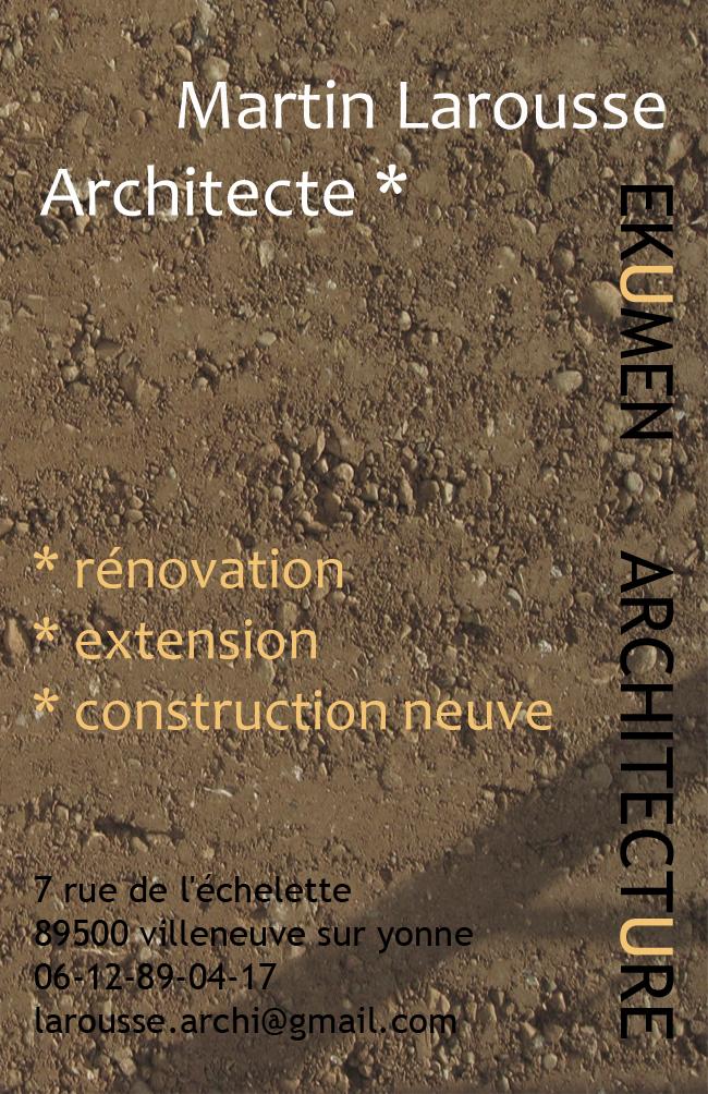 MARTIN LAROUSSE ARCHITECTE