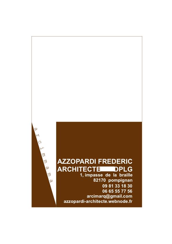 FREDERIC AZZOPARDI Architecte Dplg