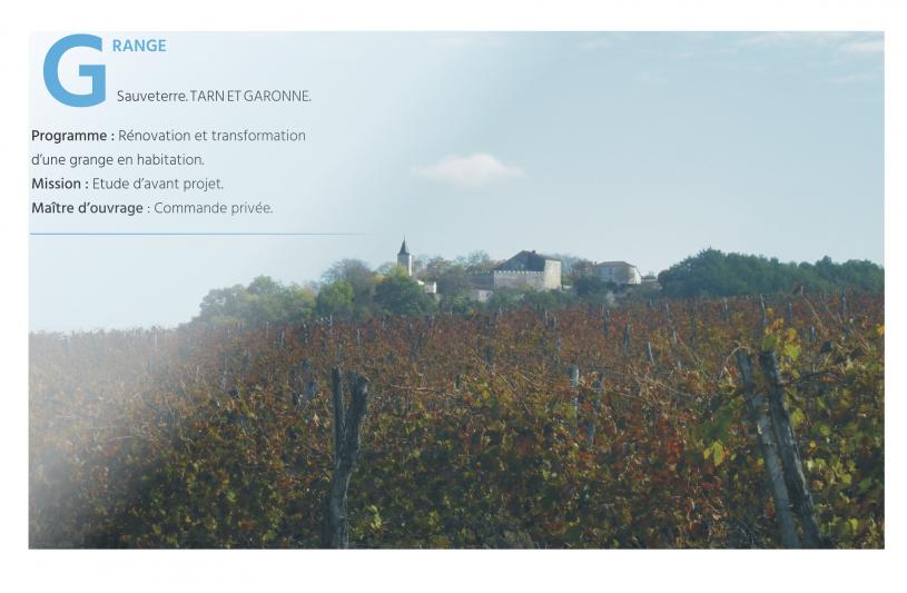 Rénovation d'une ferme à Sauveterre dans le Tarn et Garonne