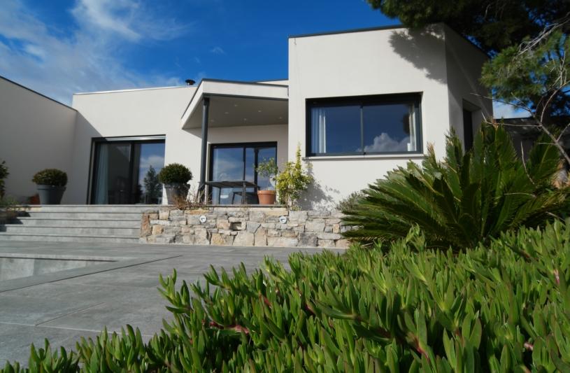 villa carree _ facade sud _ amelie soriano