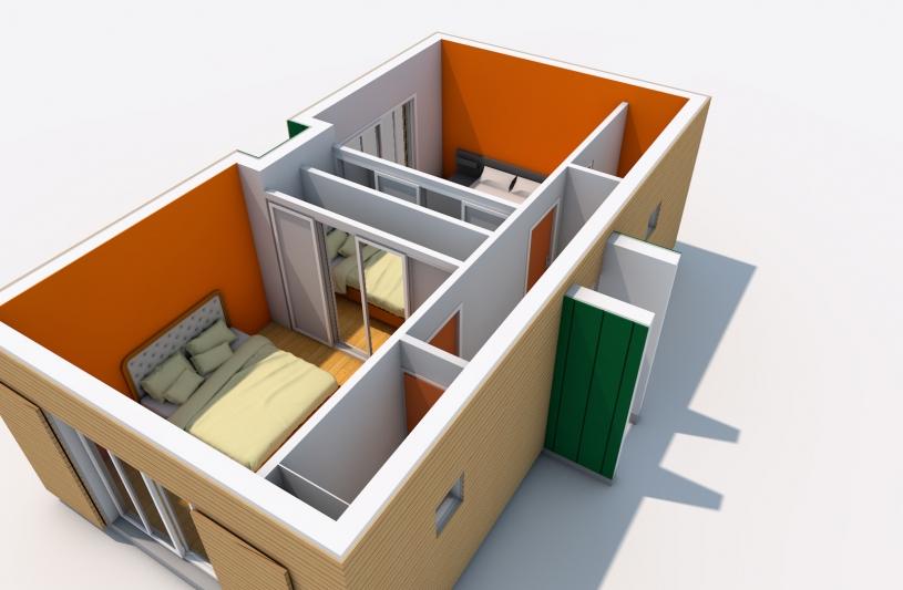 Extension, architecture, architecture intérieure, Les Essarts, Eure