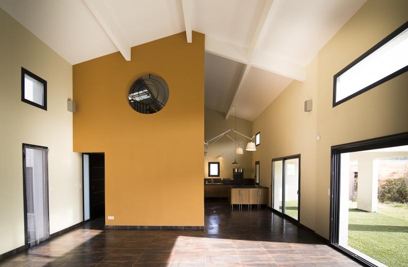 Villa cathedrale - grand espace à vivre - Amélie Soriano Architecte