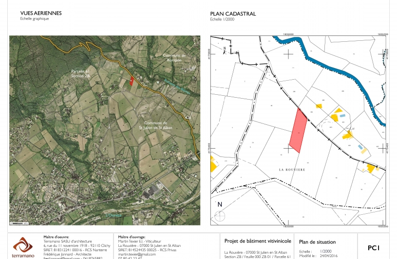 Bâtiment vitivinicole - Plan de situation