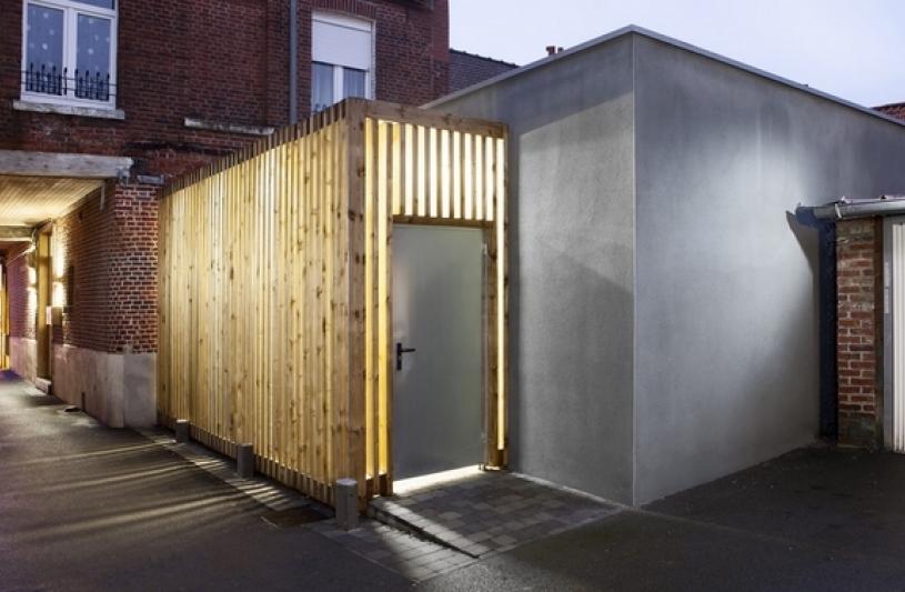 architecte lille plux bois restructuration extension cabinet dentaire Templeuve Lille médical dentiste http://www.atelier-plux.fr/