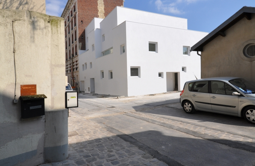 7 maisons de ville - Façade