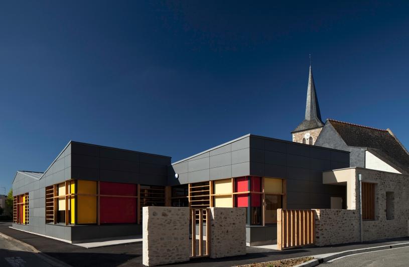 Restaurant scolaire Briolay - RO.ME Architectes - Photographe P.Grandsard