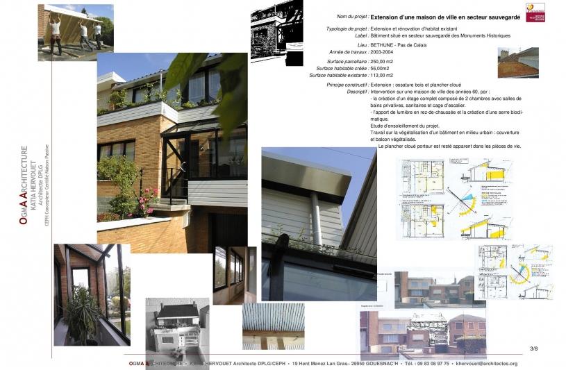 Rénovation, Extension, Habitat, végétalisation des couvertures