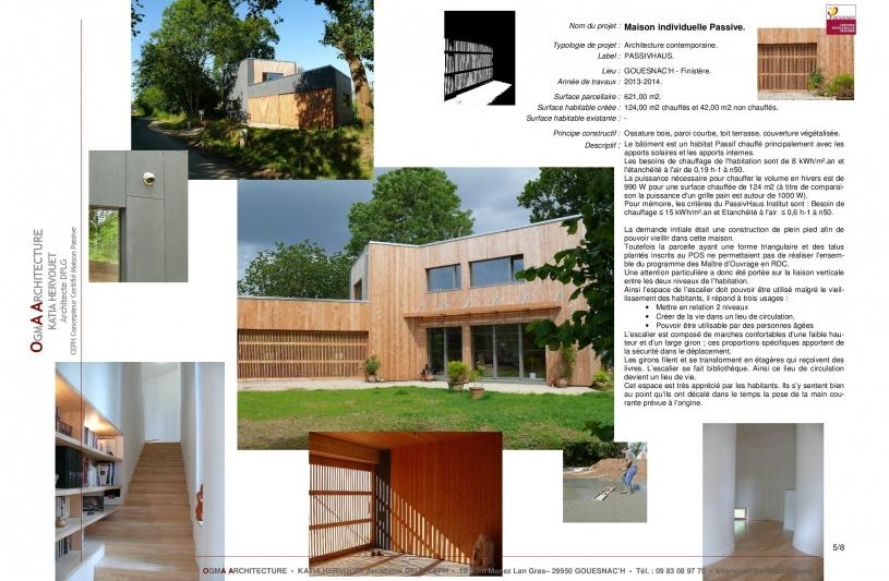 Neuf, Habitat, Architecture contemporaine Passive, ossature bois, label PassivHaus