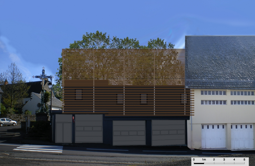 Construction métallique Bois Centre de secours et d'incendie.