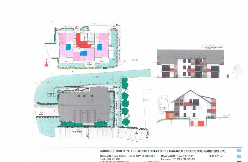 9 logements locatifs à St Sixt