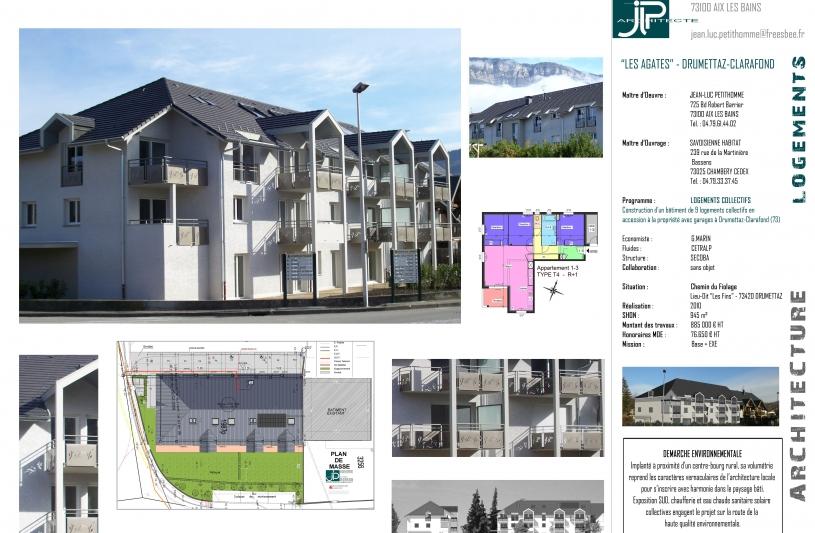 Les Agates à Drumettaz-Clarafond - JLP architecte