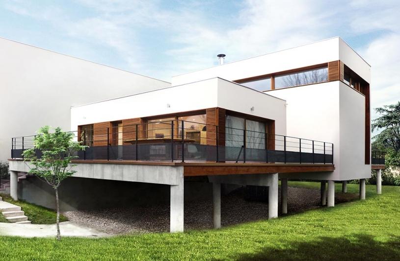 Maison sur le Pont : Façade Sud