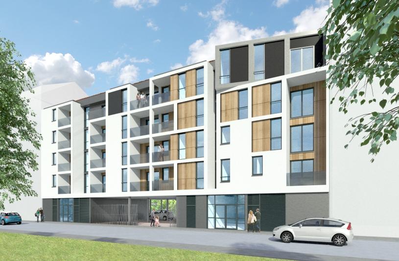 Construction d'un immeuble de 20 logements, Benoit Malon