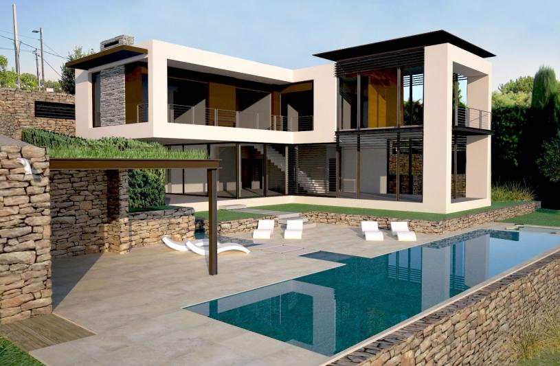 Maison moderne de luxe