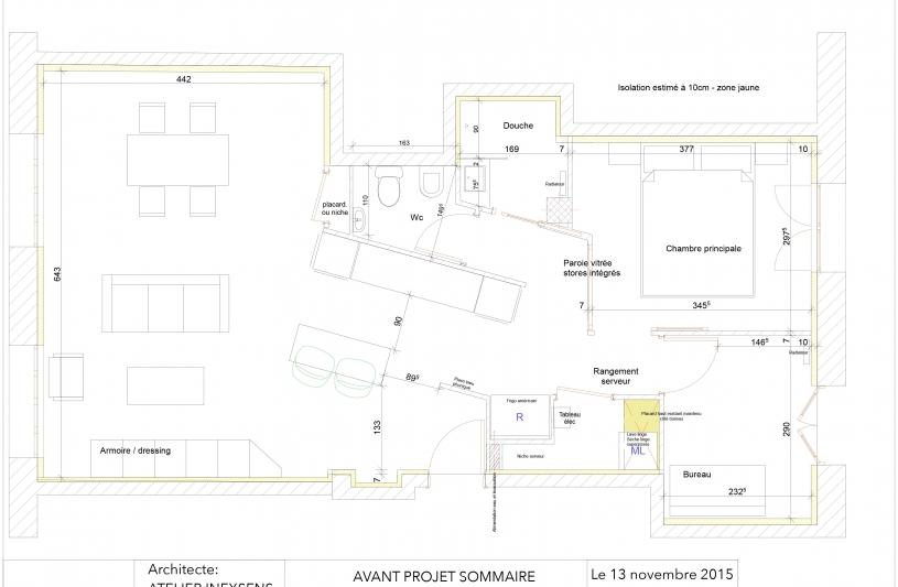 Appartement valence - Réhabilitation Atelier INEXSENS