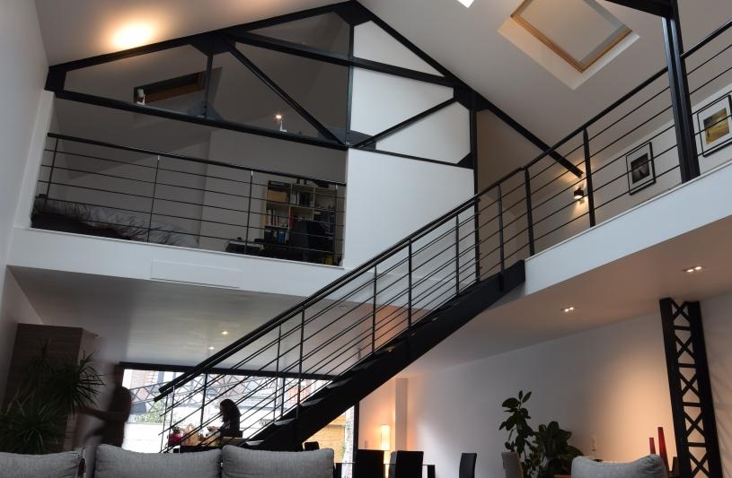 Salon loft - La Madeleine - Jacques LENAIN Architecte Lille