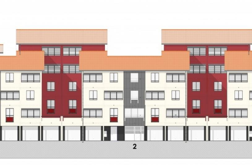 """Résidence """"Les Tilleuls"""" - plan de façade sur Grande Rue"""