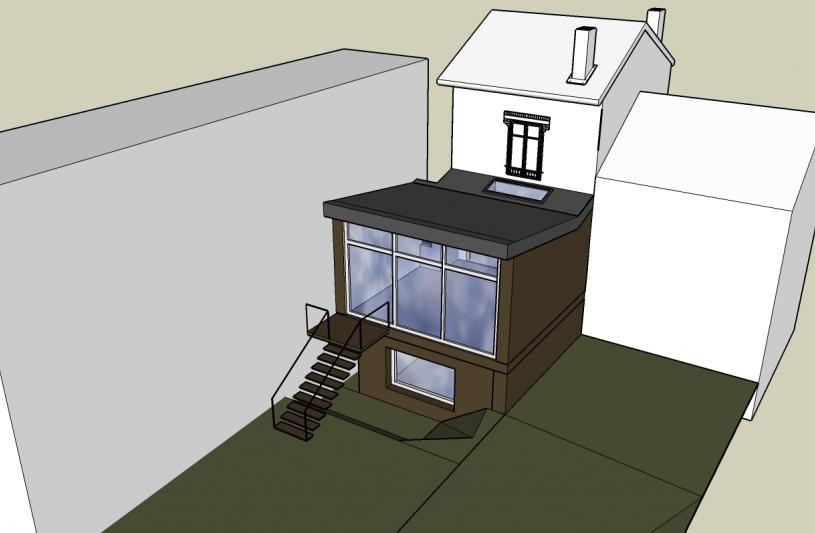 Façades du projet - Extension surélévation construction gabrielli architecte yvelines