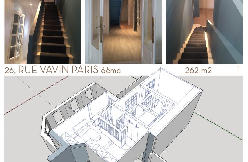L'escalier modifié vers la suite parentale