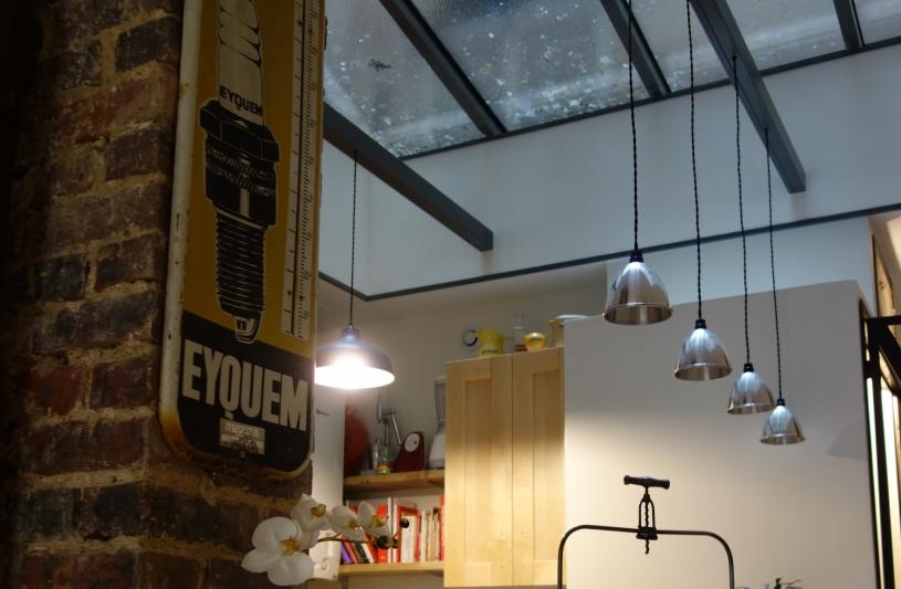 Verrière : apport de lumière au centre de l'appartement