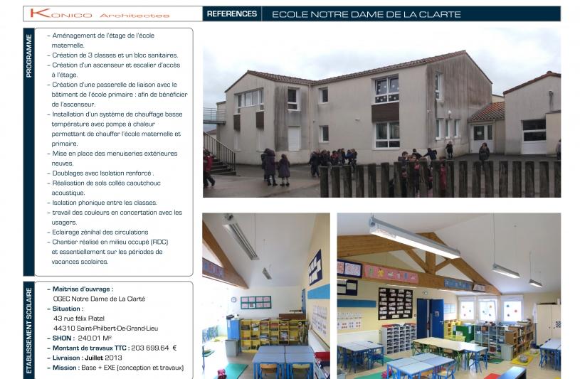 Ecole Notre Dame La Clarté - page 01