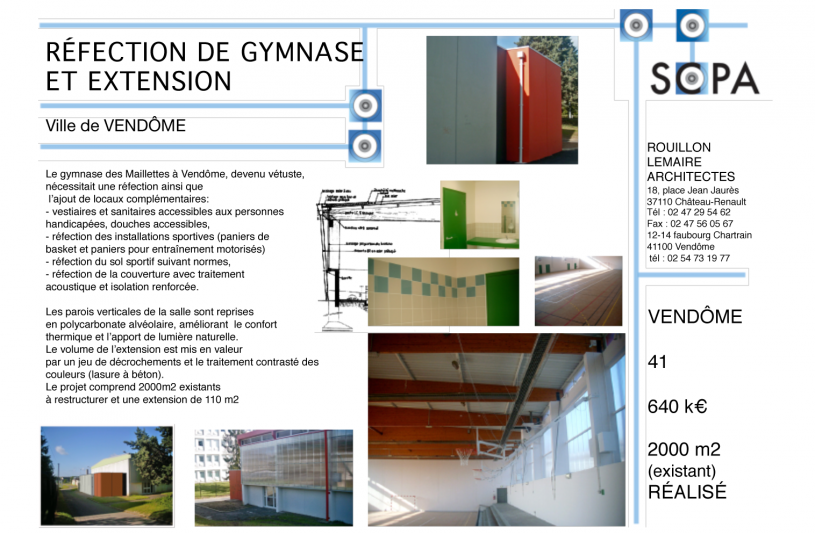 GYMNASE RÉNOVATION EXTENSION