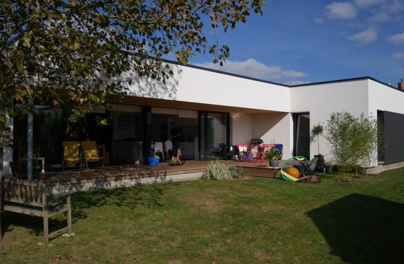maison en Ossature Bois + ITE