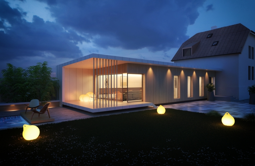 extension contemporaine colmar, architecture bois