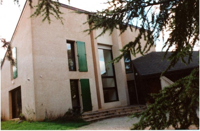 La façade d'entrée, au Nord