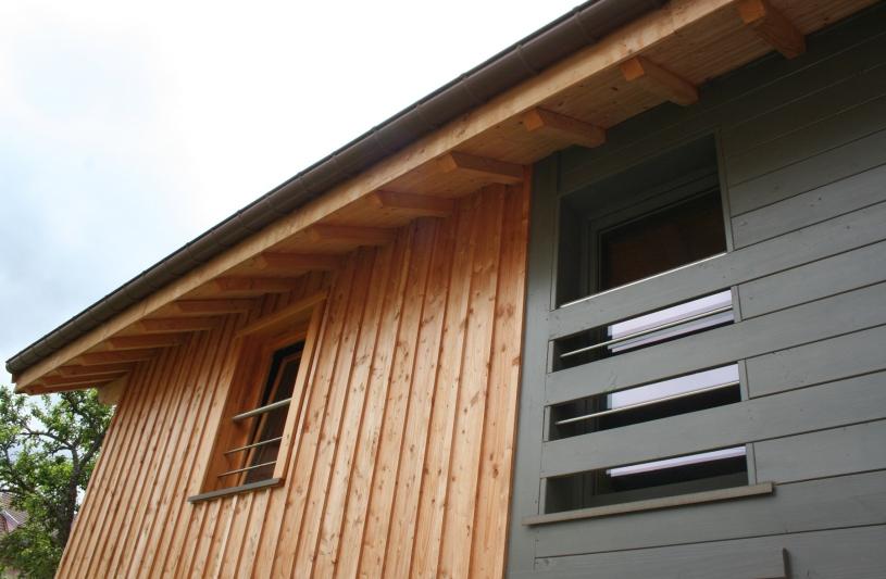 Maison ossature bois en lieu et place d'un hangar bois