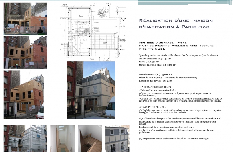 Architecte, Paris, ossature bois, maison