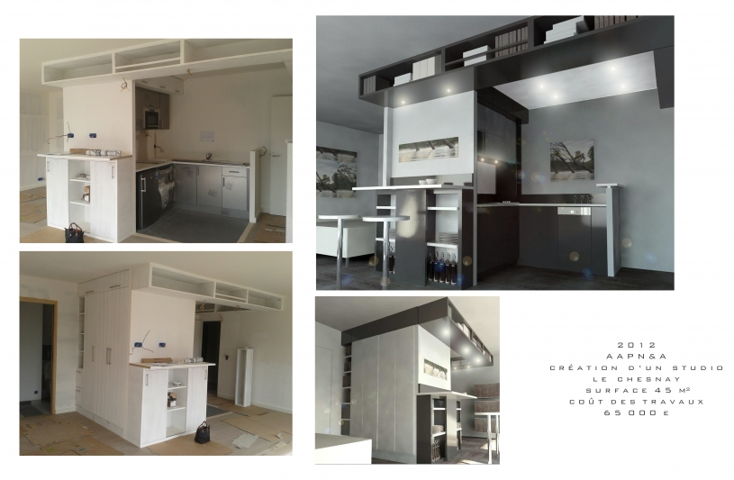 Architecte, Le Chesnay, rénovation, appartement
