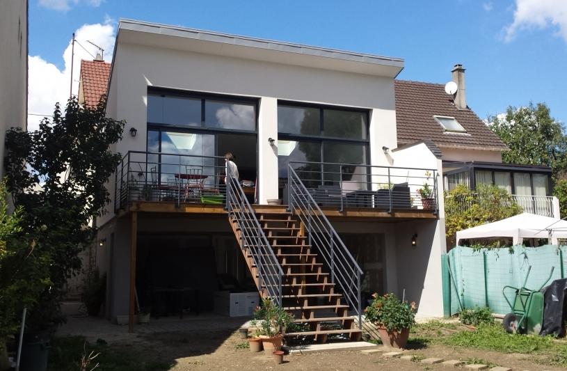 Extension maison cormeilles humbert architecte