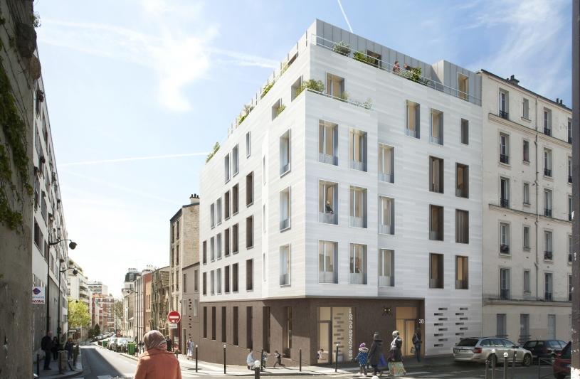14 logements + 1 espace petite enfance, Paris (XXème)