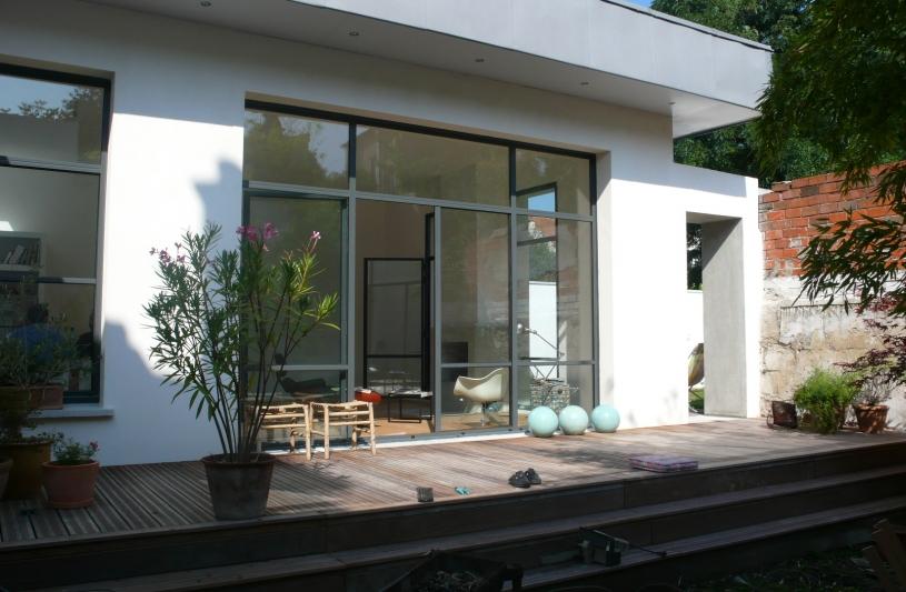 Extension maison montreuil humbert architecte