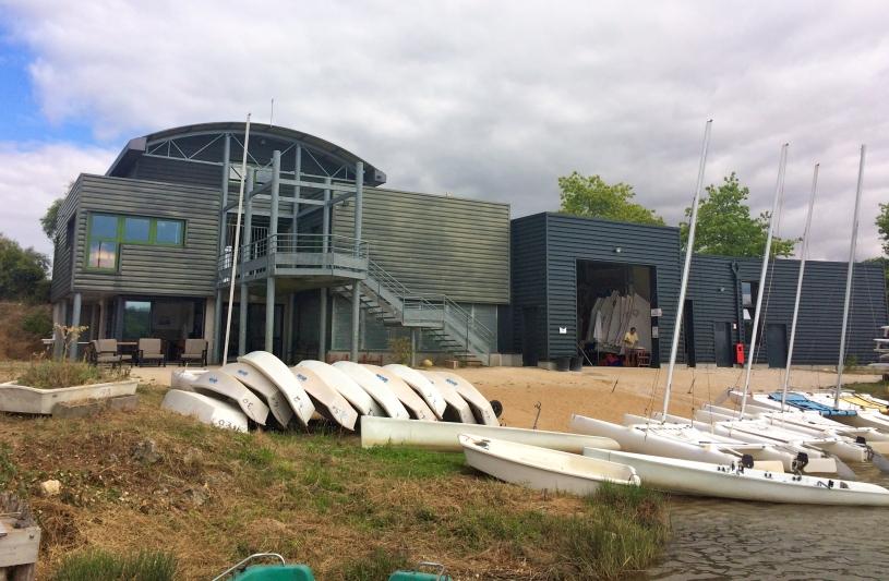 Extension base nautique - façade Ouest (18/08/2016)