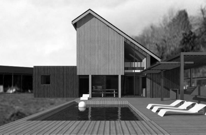 Maison de ville - bois et zinc