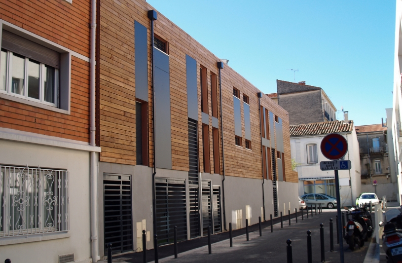 Montpellier - Héliotrope - Façades impasse Balard