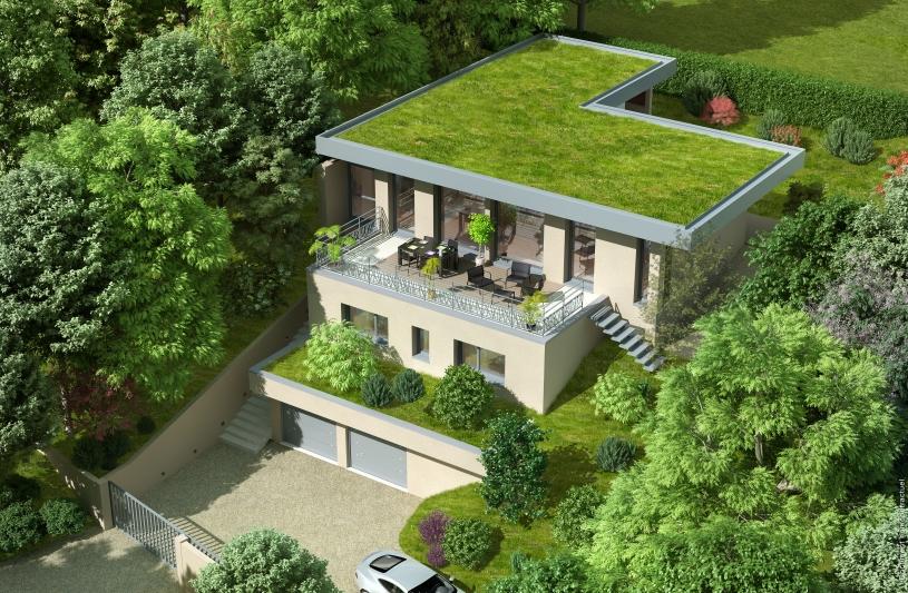 Maison Sur Terrain En Forte Pente. Finest Suprieur Plan Maison