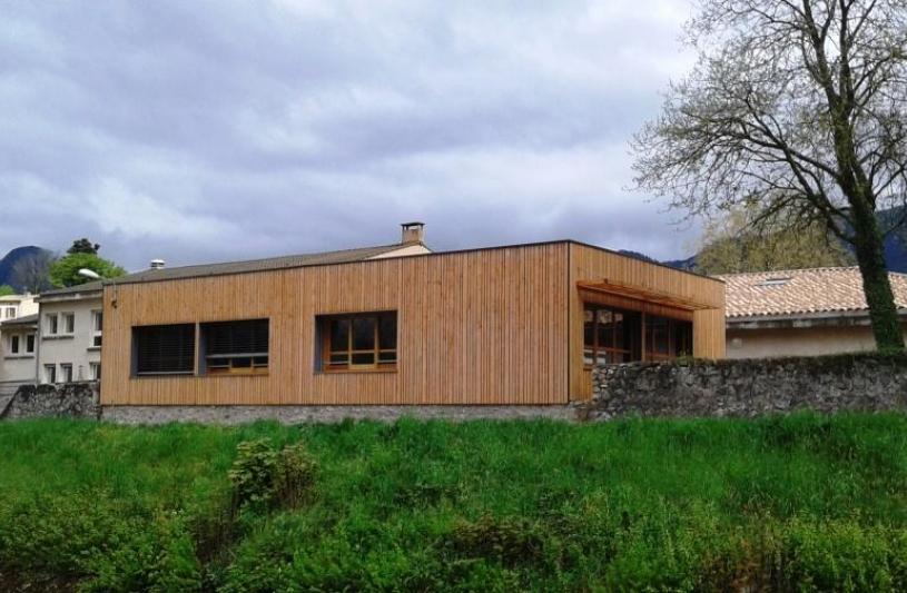 extension bois école maternelle