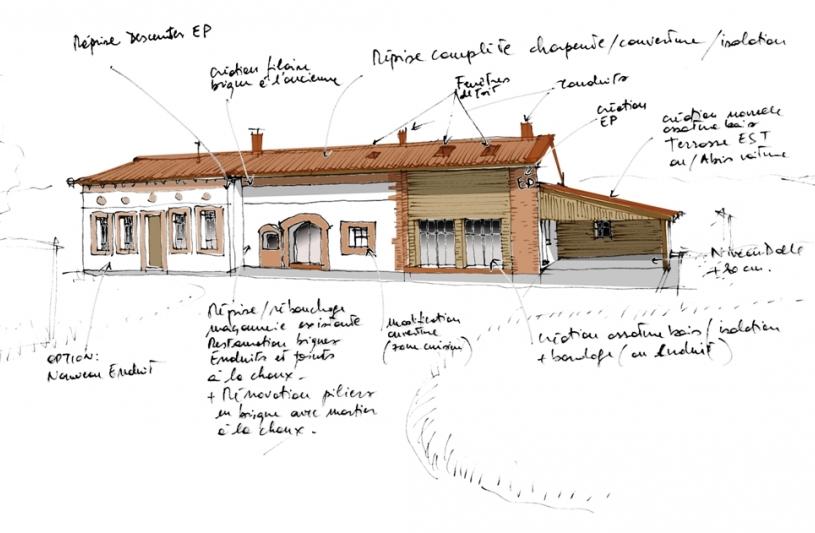Federica lavezzo architecte d f a p m ordre des architectes for Architecte renovation ferme