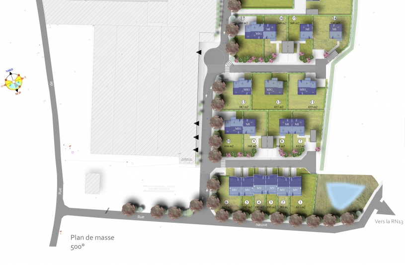 Hameau de Thoville - Plan de Masse