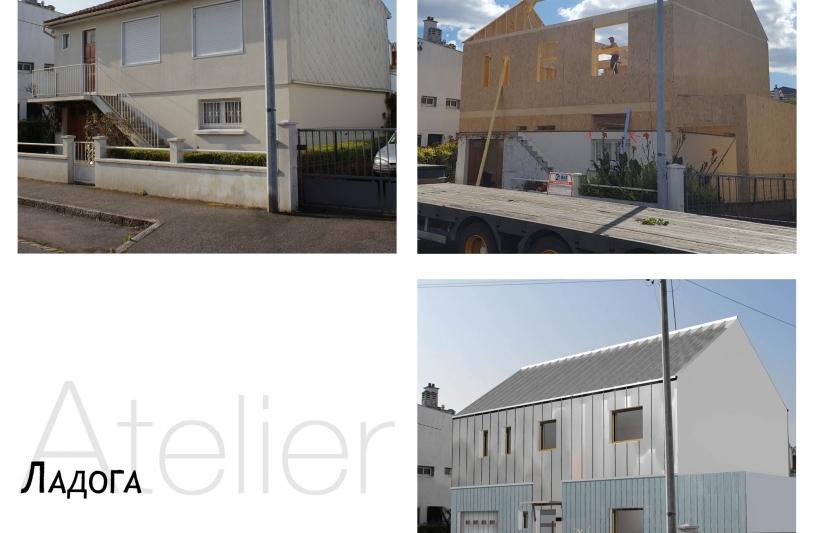 extension renovation ossature bois maison