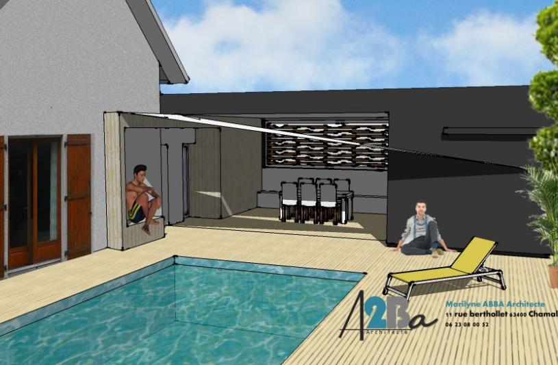 création d'un pool house Nebouzat (63)