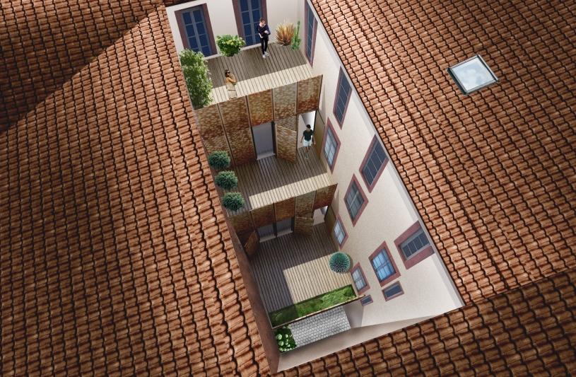 restructuration immeuble de logements dans secteur sauvegardé