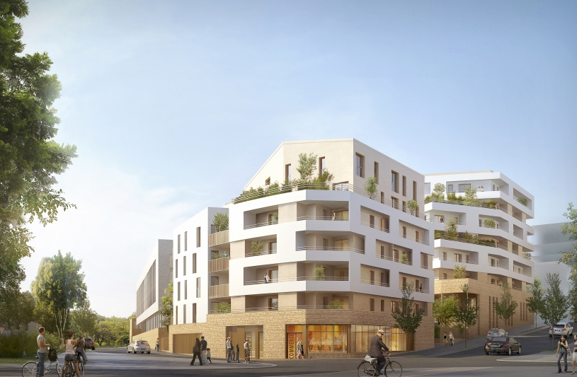 53 logements BEPOS + crèche 60 berceaux en BIM, Noisy le Grand (93)