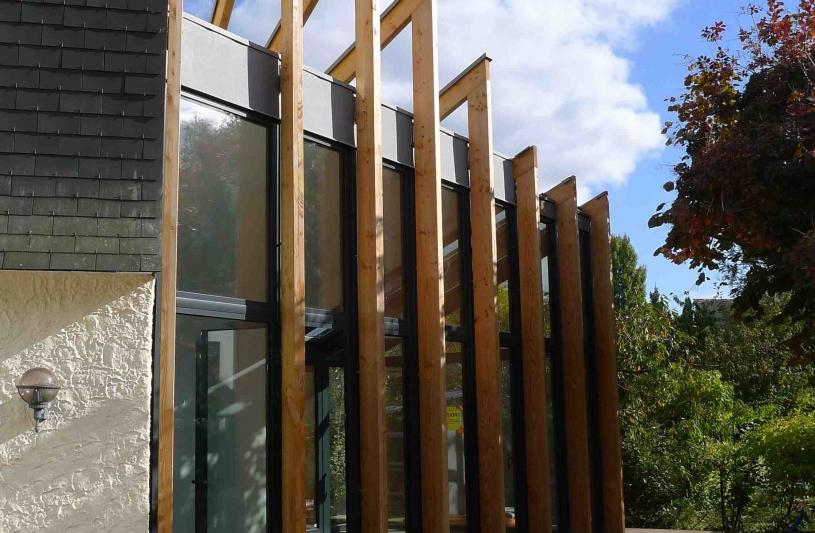 Extension bois - Système poteaux /poutres -
