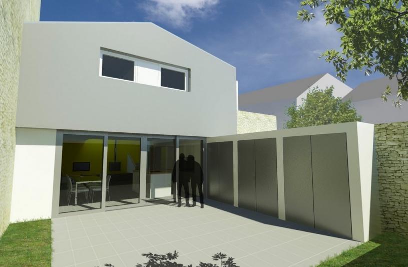 Transformation d'un hangar en maison d'habitation avec jardin à Nancy 54