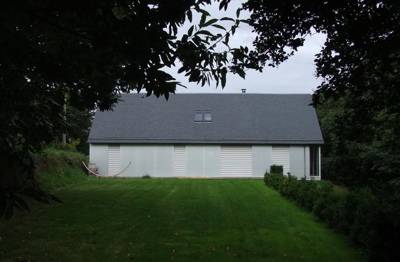 maison ossature bois bardage aluminium