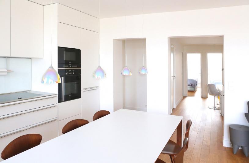 DX ARCHITECTURES, Pierre Degageux, réhabilitation, rénovation, hammam, parquet chêne, cuisine Bulthaup